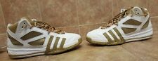 Adidas Sneakers CLU 800001 - Formition in White and Darkish Gold Color Size 13.5