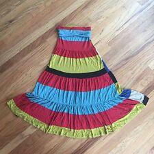 American Rag, Sleeveless summer maxi dress, bold stripes, reversible Size XS