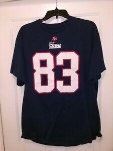 NFL New England Patriots Football Wes Welker T-shirt Men's XL Blue