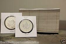 100 2.5 x 2.5 Maple Leaf & Philharmonics 2½ X 2½ Cardboard Flip Coin Holder Case