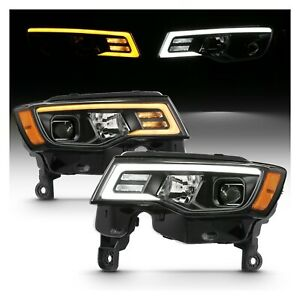 Anzo 111418 Black Projector Switchback Headlights for 17-18 Jeep Grand Cherokee