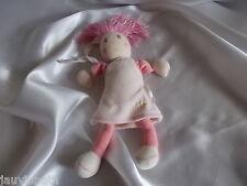 Doudou poupée rose, attache tétine,  Kaloo