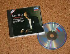 CD Sir Georg Solti Bruckner Symphony No 7 Chicago Orchestra  DECCA Digital