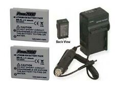 Two Battery + Charger for Canon Digital IXUS i7 Zoom 30 40 50 55 60 65 70 75 100