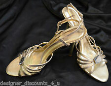 Aldo gold heels ORIANT strappy evening Couture open toe Shoes sandals bead 8 39