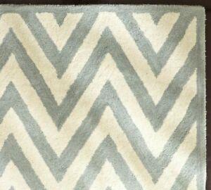 UK Rugs 5' x 8' Zig Zag Handmade Contemporary Modern Style Woolen Rugs