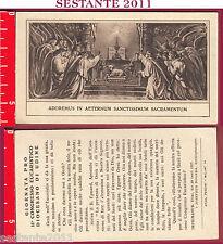 2942 SANTINO HOLY CARD ADOREMUS SANCTISSIMUM SACRAMENTUM CONGRESSO UDINE