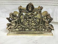 Porte courriers / lettres en bronze argenté décor de Putti (angelots)