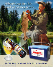 Hamms Beer Fisherman  Refrigerator / Locker / Tool Box  Magnet Man Cave