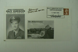 1999 DAMBUSTERS FDC GUY GIBSON VCSIGNED BY DAM BUSTER LES MUNRO