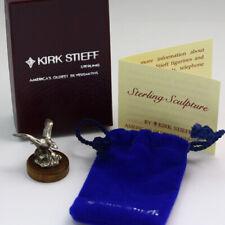 Collectible KIRK STIEFF Sterling Silver Miniature Sculpture - Duck
