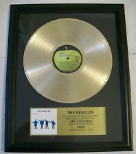 The Beatles HELP Gold LP Record + Mini Album Not a Award + Plaque