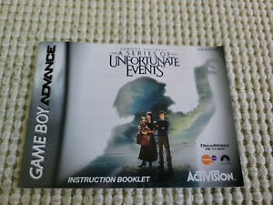 Lemony Snicket's A Series of Unfortunate Events - Game Boy Advance - Manual Only