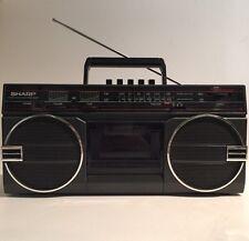 Vintage Sharp GF-3939C(D) Radio Cassette Recorder Mini Boombox Stereo Player