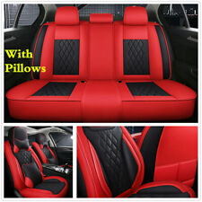 Deluxe 5D Microfiber Leather Car Full Set Seat Covers For Interior Accessoris