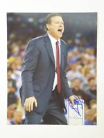 KU Jayhawks Kansas Basketball Coach Bill Self Signed Autographed 8x10 Photo