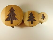 potpourri pine boxes 2 inside 1 total of 3 with screen vents