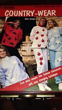 1989 Leisure Arts Country-Wear Book Leaflet 1224 #813