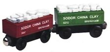 THOMAS THE TANK & FRIENDS - SODOR CHINA CLAY CARS **NIB-RETIRED-RED LABEL 2001**