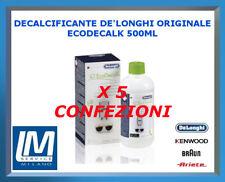 5 X DECALCIFICANTE MACCHINE DA CAFFÈ DE LONGHI ECODECALK 500ML 5513296041