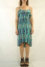 WITCHERY Blue Silk Printed Dress Size 8
