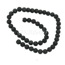8.5mm Lava Rock Design Round Loose Spacer Beads Strand Bracelet Necklace Making