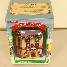 """NOMA Dickensville Collectables Lighted House """"Bank"""" Christmas Village 1995 NIB"""