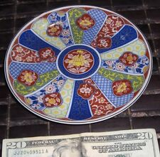 """JAPANESE FAMILE ROSE PLATE  MARKED RED N BLACK N BOTTOM 6.5"""" LOTUS CHARGER"""