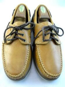 "Allen Edmonds ""EASTPORT"" Boat Shoes 9.5 D Tan (443)"