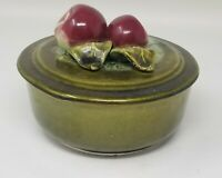 Vintage Wade Pottery Of California Apple Topped Covered Dish