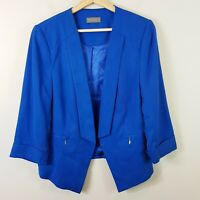 [ JACQUI.E ] Womens Blue Blazer Jacket  | Size AU 12 or US 8
