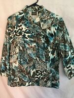 Additions by Chico's Artsy Designs Fitted Light weight Jacket 2/M