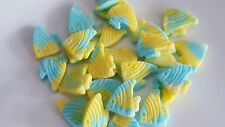 24  Edible Sugarpaste fish cake toppers (20mm) Ideal for little mermaid cakes
