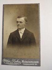 Neuhaldensleben - Mann im Anzug - Portrait / CDV