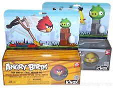 KNEX Building Sets Angry Birds Lot 2 Red Yellow Small Medium Minion Pigs Rovio