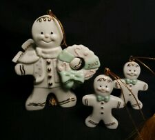Lenox 2002 Gingerbread Man Ornament *bonus* plus 2 miniatures! Free Ship!