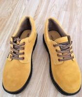 LEATHER Men's Tan Work Shoes Boots Style Hiking Walking Trekking Trail Size 6.5