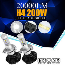 PHILIPS 200W LED 20000LM Kit 6500K White Headlight Dual Hi Lo Bulbs H4 HB2 9003
