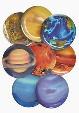 Melamine Planet Plates - Set of Eight