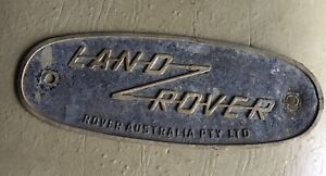 land rover series 2 Australian Badge