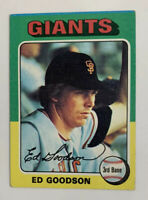 1975 Ed Goodson # 322 Topps Baseball Card San Francisco Giants SF