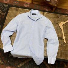 Kamakura Maker's 15 3/4 Slim Fit Shirt Linen Cotton Liberty Spread Collar Japan