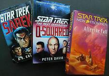 Three unread STAR TREK novels by David, Crispin hardcover w/jackets 1st editions