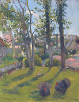 Print on CANVAS From Painting Fine Art Giclee The Turkeys Pont Aven Paul Gauguin