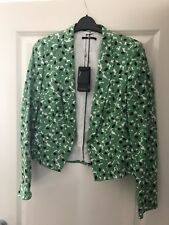 HUGO BOSS SIZE 6 WOMENS GREEN BLACK WHITE JACKET NEW