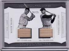 2017 National Treasures Roger Maris Yankees Orlando Cepeda Dual GU Bat 24/25