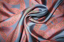 """New Macclesfield 100% silk twill pocket square 18"""" navy & burgundy hand rolled"""