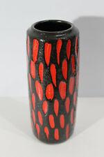 FAT LAVA Vase 532-28 RARE 70s Rot Schwarz Design Scheurich West Germany 70er