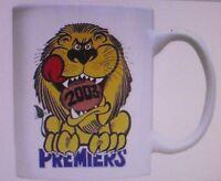BRISBANE 2003 PREMIERS  - OFFICIAL WEG ART COFFEE MUG  - BRAND NEW IN BOX