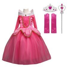 Sleeping Beauty Princess Aurora Costume Party Dress For Girls Pink And Blue Set